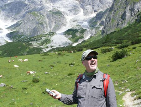 The elusiveness of a clean cowbell recording was Mig's main source of frustration during his hike.